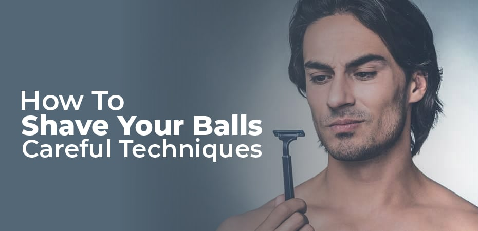how to shave your balls video